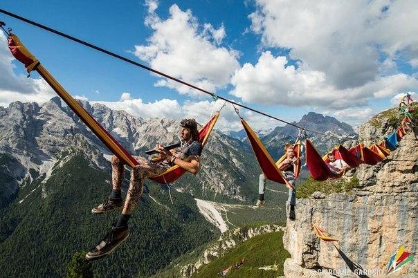 Как тусуются альпинисты)
