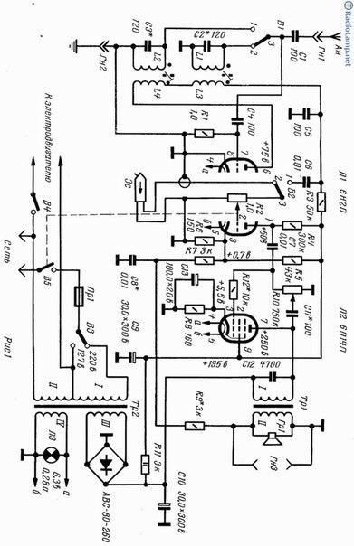 Схема переносной ламповой