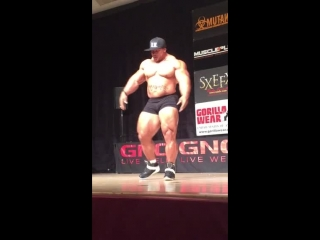 Roelly Winklaar Guest Posing @ 2015 GNC Stratford Championships