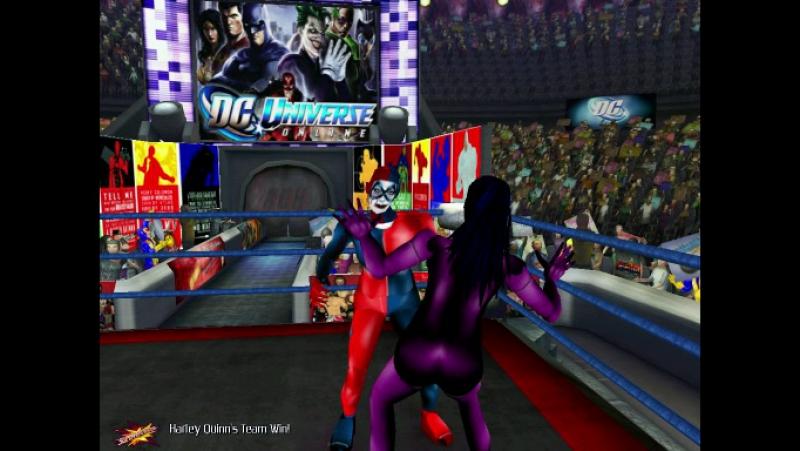 Бэтмен Будущего и Женщина Кошка против Джокера и Харли Куин