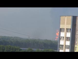 Пожар на нефтебазе в Василькове под Киевом. Утро 09.06.2015