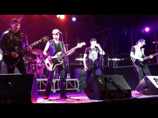 Tribute Scorpions band Wind of Change. Drunk fan on stage)