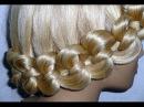 Причёска с узловым плетением  для средних и длинных волос