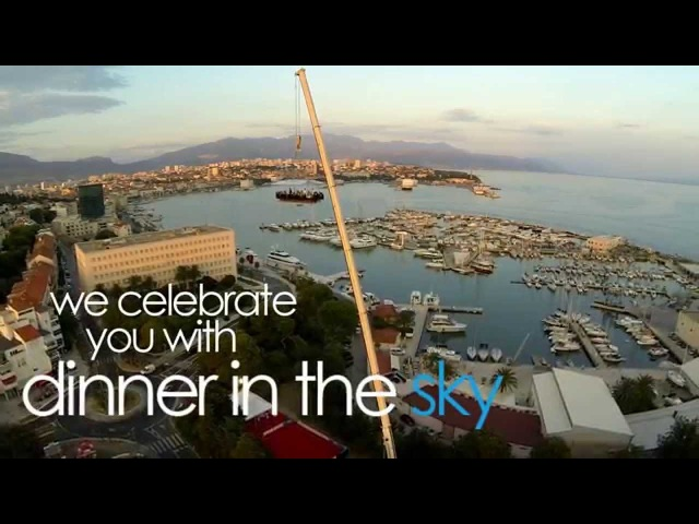 Dinner in the Sky - unforgettable experience