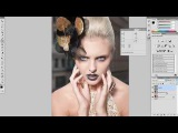 52retouching skin on the soft light layer\\па