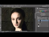 Photoshop c6 Обработка портретов в стиле фильма --Игра престоловло
