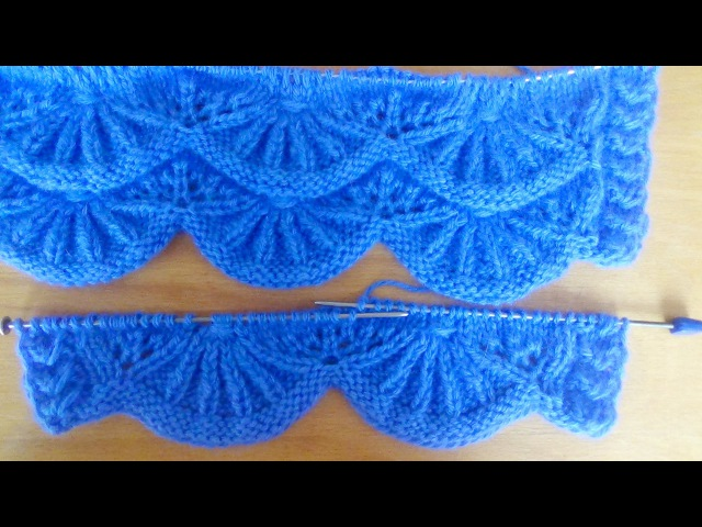 Узор спицами АЛСАЦИЙСКИЕ ГРЕБЕШКИ. Knitting Patterns