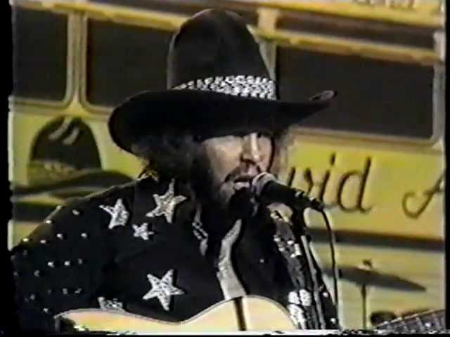 David Allan Coe - Living on the Run, rare 1975 Video Performance