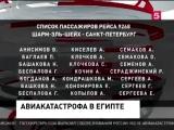 Список погибших в авиакатастрофе самолета России.