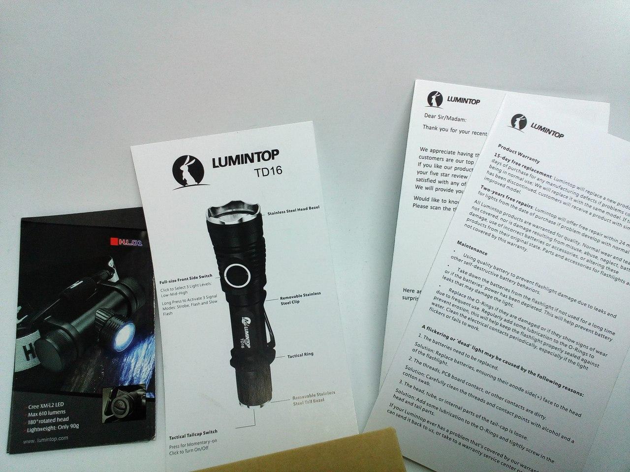 Amazon: Тактически-стратегический фонарь Люминтоп TD16