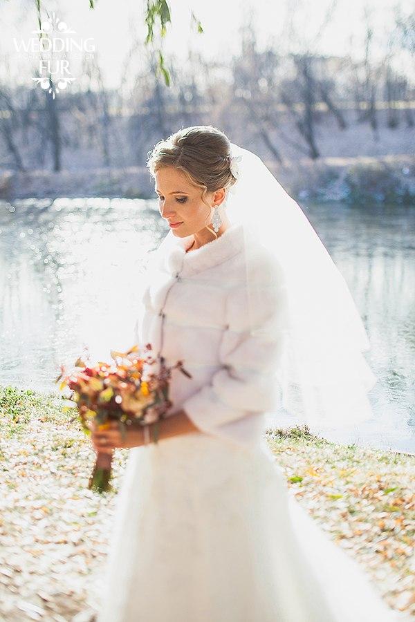 Норковые меховые шубки для невесты напрокат