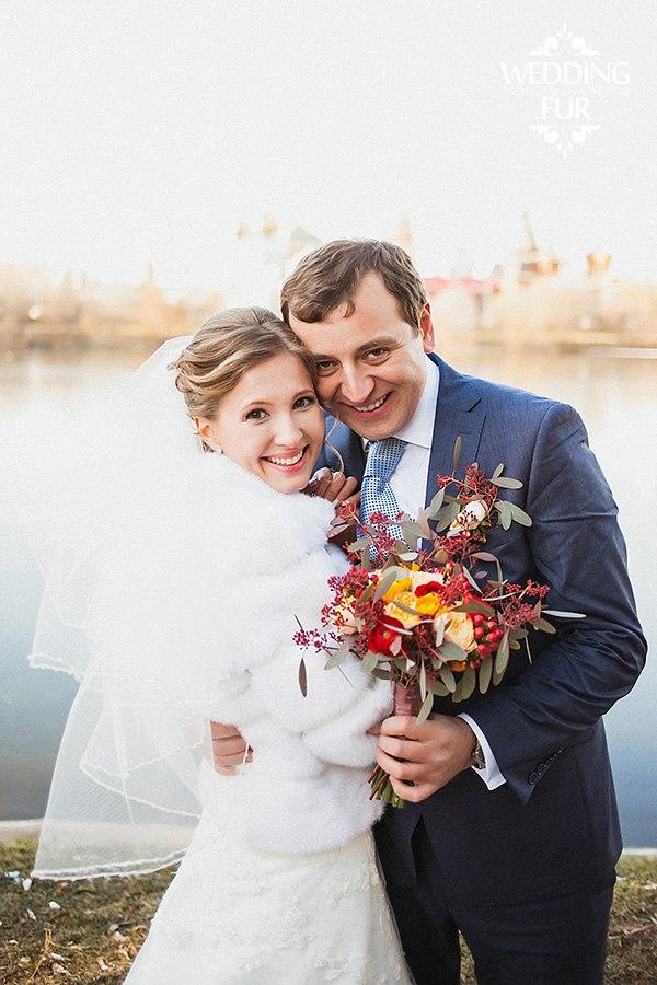 Свадебная шубка из норки купить для невесты