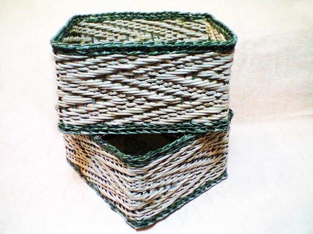 ▬► Объемный узор Зигзаг на основе ситцевого плетения. Часть 1.