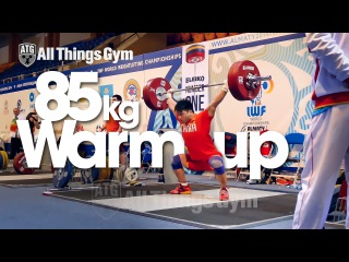 85kg Snatch Warm-up Almaty 2014 World Weightlifting Championships