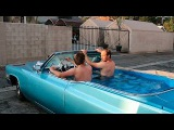 Hot Tub Cadillac Friends Hope To Set World Record For Fastest Hot Tub Car