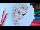 Уроки рисования. Учимся рисовать Эльзу из Холодное СердцеHow to Draw Elsa Art School
