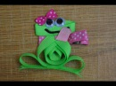 FROG Ribbon Sculpture Zoo Animal Hair Clip Bow DIY Free Tutorial by Lacey