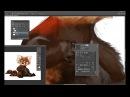 Red panda speedpainting process Therese Larsson