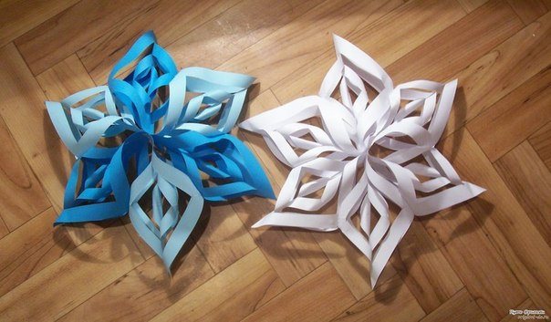Снежинки-оригами своими руками