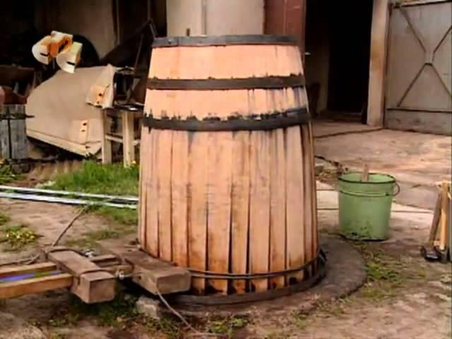 Изготовление бочки для вина