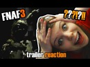 Five Night's at Freddy's 3 Trailer РЕАКЦИЯ Мийка на официальный трейлер FNAF 3