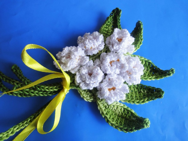 Маленький букет Small a bouquet Crochet