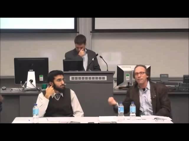 Астрофизик Лоренс Краусс на дебатах с богословом