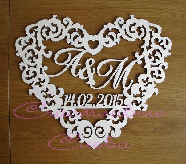 Буквы на свадьбу своими руками шаблоны