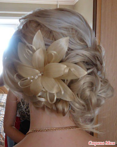 Как сделать заколку из волос цветок