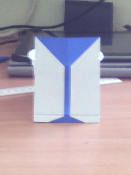 Бокал оригами