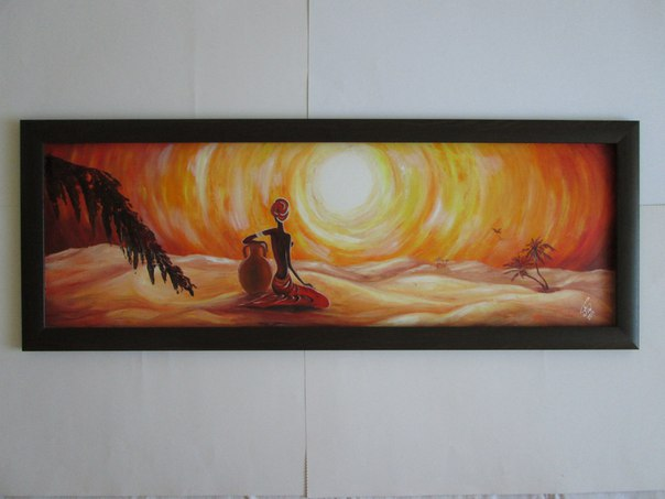 """Картина """"солнечной"""" серии."""