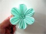 Moños en cintas para el cabello flor de seis pétalos calados