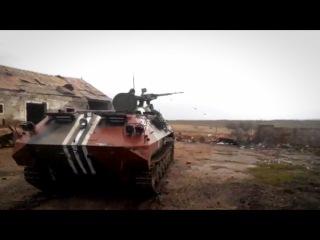 МТЛБ сил АТО ведет огонь по ДНР - Ukraine: Ukrainian MTLB firing