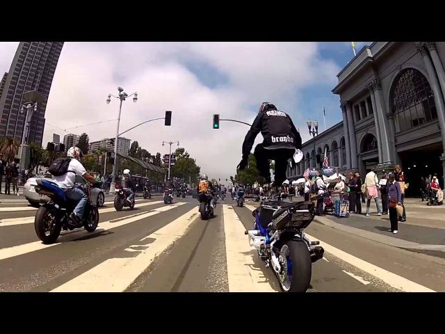 Сумашедшие трюки на мотоциклах! [HD]