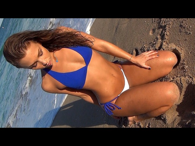HOT Bikini Beach Workout w Sexy Model Nicole Mejia