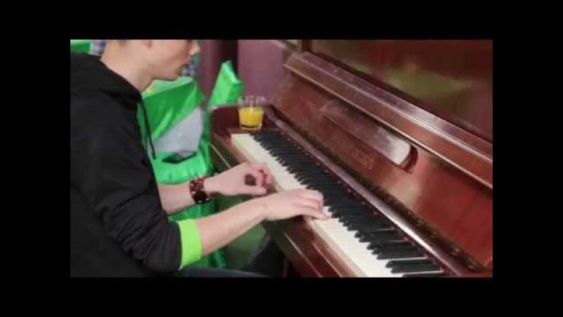 Linkin Park - Numb | Пиано импровизация на площади возле кафешки | NAzzzYA