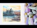 Картина за 10 минут! Видео урок Рисуем Венецию Пастелью! Dari Art