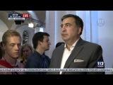 Поведение Саакашвили во время включения гимна Украины
