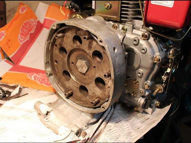 Дизельный мотор c переходником. Diesel engine Weima FE 188, with installed adapter