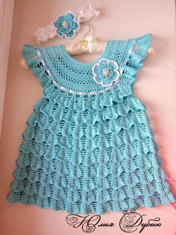 Вяжем платье для девочки (3 фото) - картинка