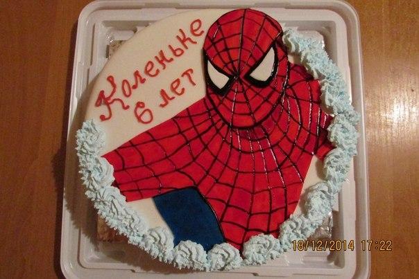 фото тортов человека паука