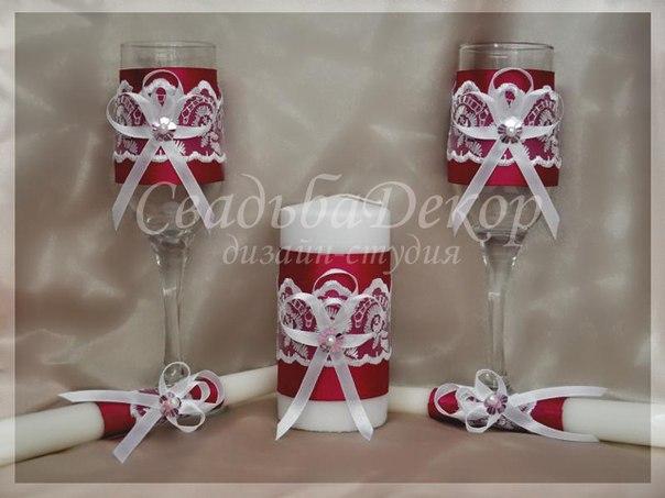 Бокалы шампанское свечи на свадьбу своими руками