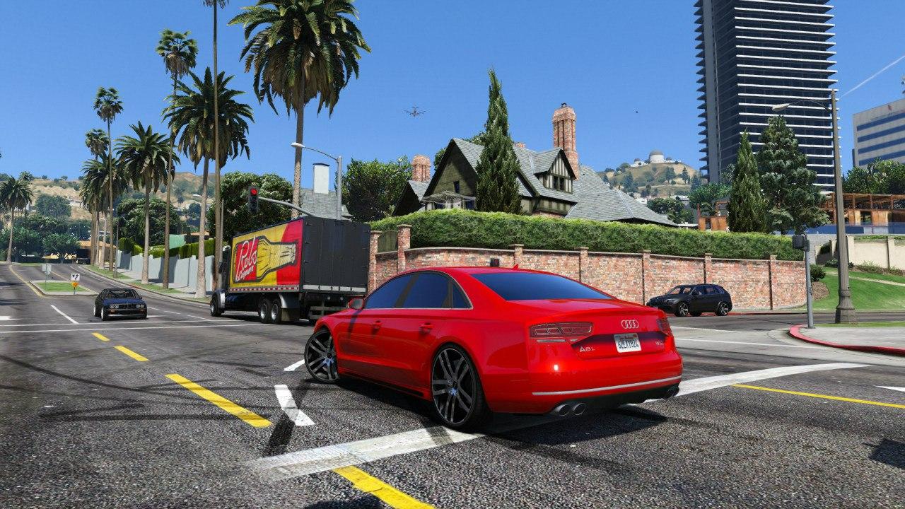 Audi A8 v1.1 для GTA V - Скриншот 3