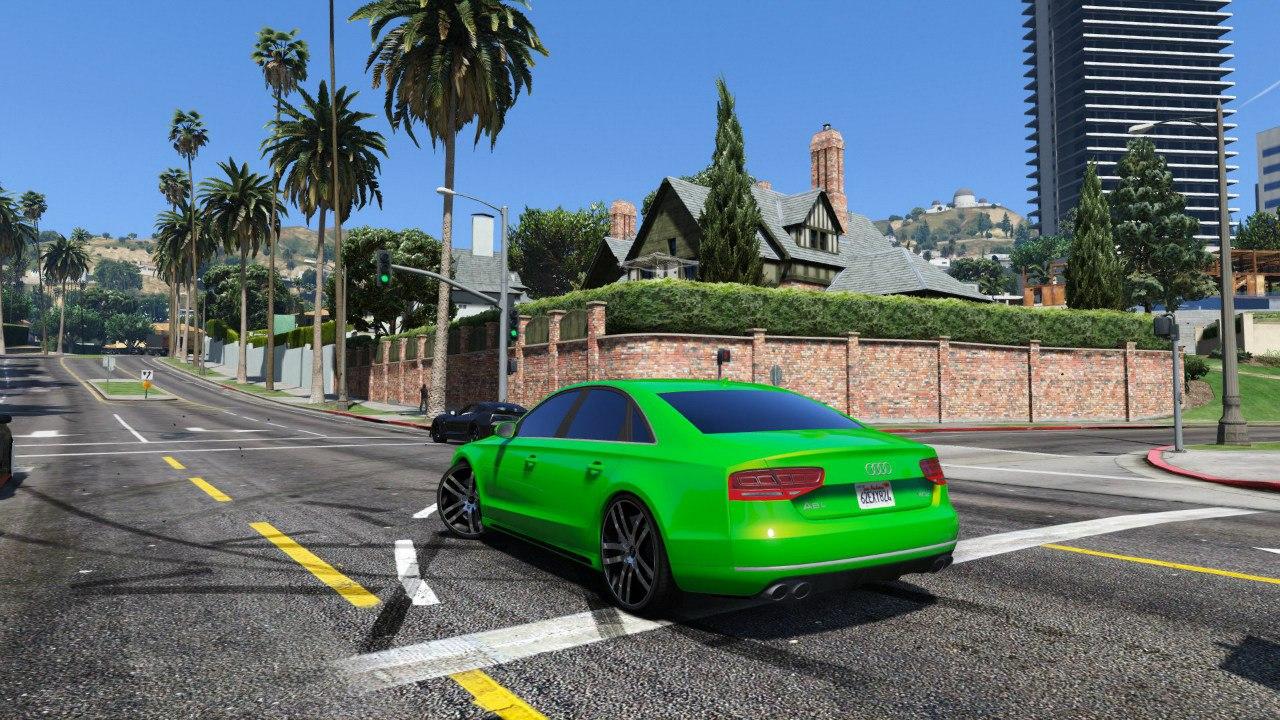 Audi A8 v1.1 для GTA V - Скриншот 2