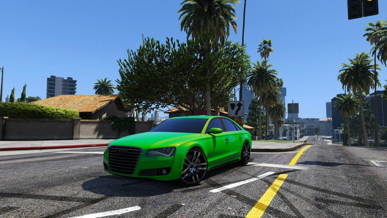 Audi A8 v1.1 для GTA V - Скриншот 1