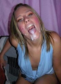 фото спермы на лице любителей