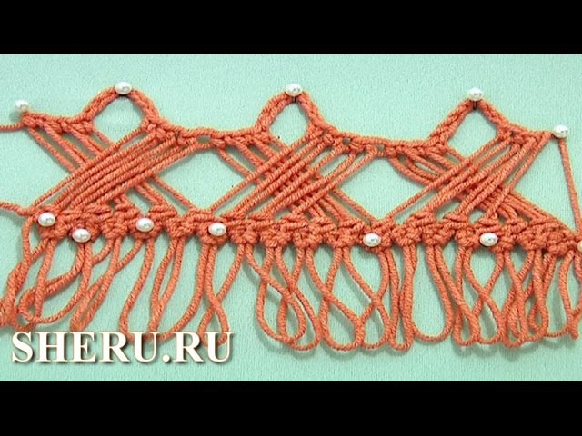 How to Crochet Hairpin Braid Lace Урок 30 Вязание на вилке крючком
