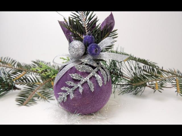 Новогодние игрушки своими руками. Шары на елку   Tavifa