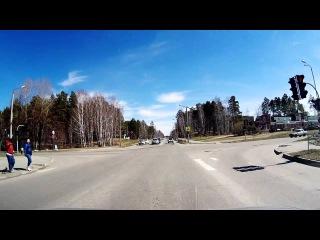 Пешеходы прогуливаются на красный - Снежинск 29 апреля 2015