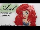 Polymer Clay Disney's Ariel The Little Mermaid Pendant Charm Tutorial La Sirenita La Sirenetta FIMO